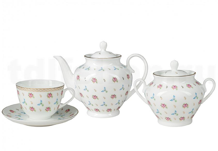 Цветочный вальс - фарфоровая чайная пара